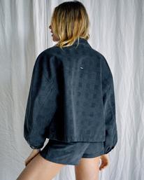 3 Camille Rowe   Bel Shirt Jacket Black R415433 RVCA