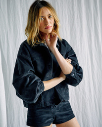 1 Camille Rowe   Bel Shirt Jacket Black R415433 RVCA