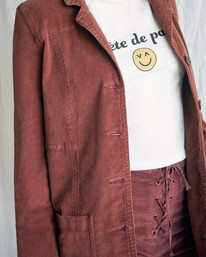 5 Camille Rowe | Paradis Coat Brown R415434 RVCA