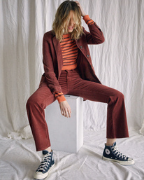 7 Camille Rowe | Paradis Coat Brown R415434 RVCA