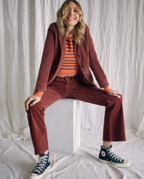 1 Camille Rowe | Paradis Coat Brown R415434 RVCA