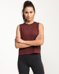 0 Rogue Muscle Tank Top Red R481662 RVCA