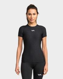 0 Va Compression Short Sleeve Top Black R481682 RVCA
