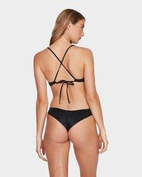 0 Solid Shimmer Cheeky Bikini Pant Black R481804 RVCA