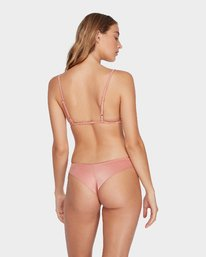 0 Solid Shimmer Cheeky Bikini Pant Beige R481804 RVCA