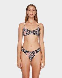 0 Isla Floral Crossback Bikini Top Beige R482871 RVCA