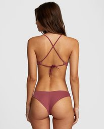 0 Solid Cheeky Bikini Bottom Purple R484826 RVCA