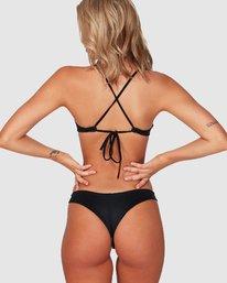 0 Solid Cheeky Bikini Bottom Black R484826 RVCA