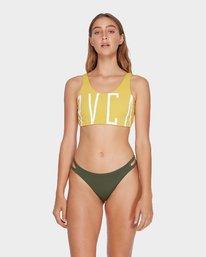 0 Solid Crop Bikini Top Yellow R493801 RVCA