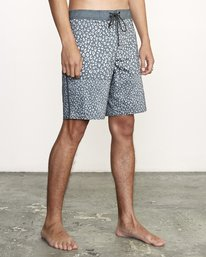 """6 Arroyo Trunk 19"""" - Printed Board Shorts for Men Black S1BSRGRVP0 RVCA"""
