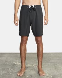 "Commander Trunk 18"" - Black Board Shorts for Men  S1BSRLRVP0"