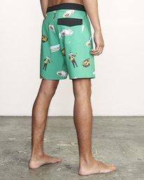 """5 Hot Fudge Trunk 18"""" - Bañador de surf de pantalón con estampado para Hombre Verde S1BSRMRVP0 RVCA"""