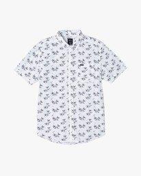 0 Easy Palms - Palm Print Shirt for Men White S1SHRGRVP0 RVCA