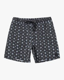 Escape Print Elastic  - Printed Elastic Waist Short for Men  S1WKRJRVP0