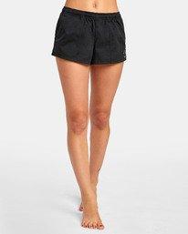 0 Synced Up - Bade-Shorts für Damen Schwarz S3BSRARVP0 RVCA