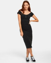 0 Stripped Down Dress - Dress for Women Black S3DRRARVP0 RVCA