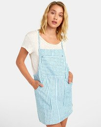 0 River - Striped Overall Style Dress for Women  S3DRRCRVP0 RVCA