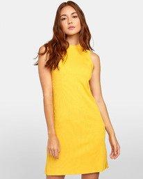 0 Lemmon Dress - Robe pour Femme Jaune S3DRRIRVP0 RVCA