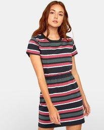 0 Daized Dress - Striped T-Shirt Dress for Women Black S3DRRJRVP0 RVCA