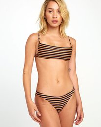 Bondi Stripe Medium - Textured Stripe Bikini Bottoms for Women  S3SBRKRVP0