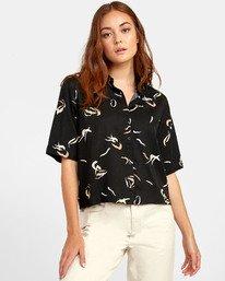 0 Foreign - Printed Shirt for Women Black S3SHRERVP0 RVCA