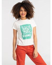 0 Hot Fudge La Rosa - T-Shirt for T-Shirt White S3SSRKRVP0 RVCA