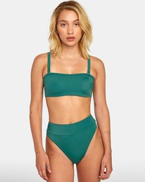 0 Solid - Solid Bandeau Bikini Top for Women Green S3STRNRVP0 RVCA