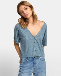 Chalked Top - V Neck Tee for Women  S3TPRDRVP0