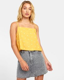 0 Logan - Printed Cami for Women Yellow S3TPRGRVP0 RVCA