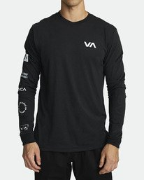 All Out RVCA - Athletic Long Sleeve T-Shirt for Men  S4LSMARVP0