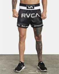 0 RVCA Muay Thai  - Athletic Shorts for Men Black S4WKMCRVP0 RVCA