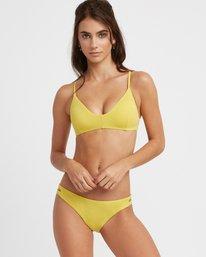 0 Solid Cross Back Bikini Top Yellow SJXT01SC RVCA