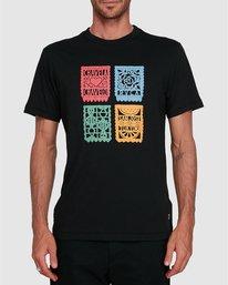 0 Hot Fudge Paper Picado - T-shirt pour Homme Noir T1SSRJRVS0 RVCA