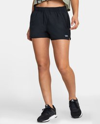 "0 WOMENS YOGGER STRETCH SHORT 11.5"" Black T2023RYS RVCA"