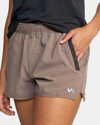 """2 Womens Yogger Stretch Short 11.5"""" Grey T202TRYS RVCA"""