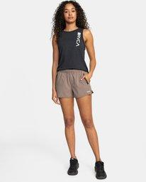 """3 Womens Yogger Stretch Short 11.5"""" Grey T202TRYS RVCA"""