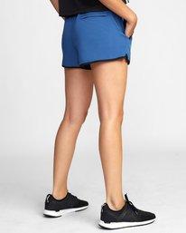 "4 Womens Yogger Stretch Short 11.5"" Blue T202TRYS RVCA"