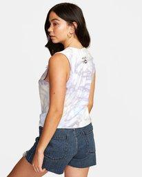 3 Michelle Blade Microscope - Vest Top for Women White T3SGRDRVS0 RVCA