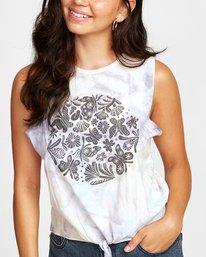 4 Michelle Blade Microscope - Vest Top for Women White T3SGRDRVS0 RVCA