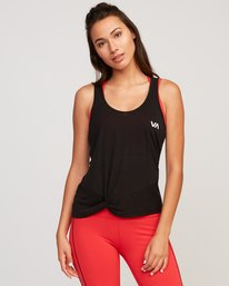 0 Warp Knot Performance Tank Top Black T901URWA RVCA
