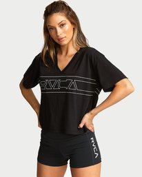 0 V Boxy Sport T-Shirt Black T903VRTE RVCA