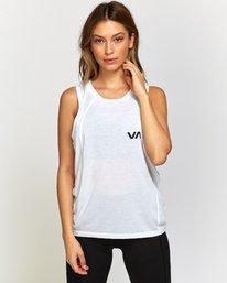 0 Dione Muscle Tank Top White T905VRRM RVCA