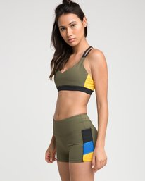 0 Ignight Strappy Sports Bra Green TQ01TRIS RVCA