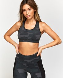 0 VA Takedown Sports Bra Brown TQ02TRTD RVCA