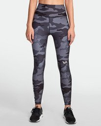 0 RVCA SPORT II HIGH RISE LEGGING Brown TQ071RRL RVCA