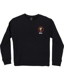 0 Nothing - Sweatshirt for Men Black U1CRRARVF0 RVCA