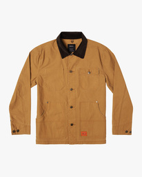 0 Chainmail - Jacke mit Knopfleiste für Männer Gelb U1JKRBRVF0 RVCA