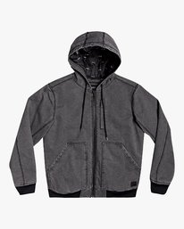 0 Hooded Canvas - Bomber Jacket for Men Black U1JKRKRVF0 RVCA