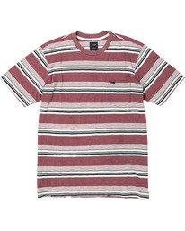 0 Ventura Stripe - Short Sleeve Top for Men Red U1KTRBRVF0 RVCA