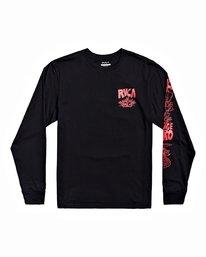 0 Grant Kratzer Barbarian - T-shirt manches longues pour Homme Noir U1LSRGRVF0 RVCA
